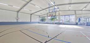 Polyurethane sports floor for multipurpose gyms
